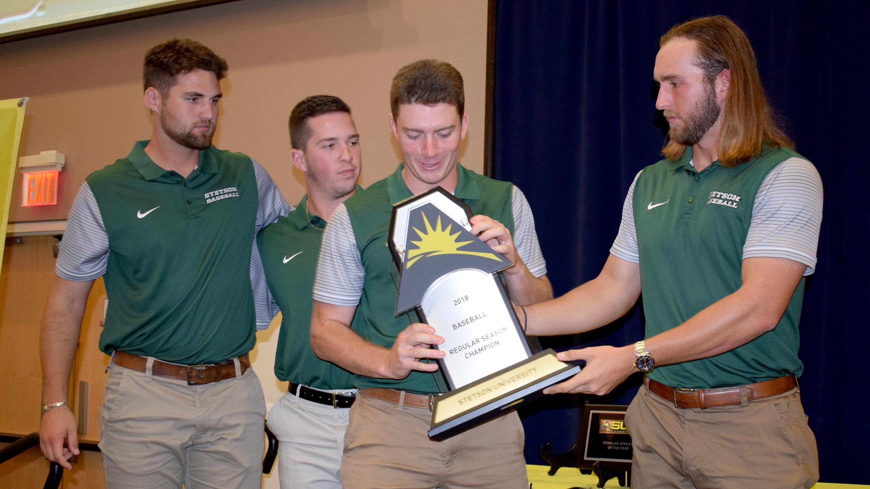 30017c35a58e8 Hatters Collect ASUN Hardware In Advance of Tournament - Stetson ...